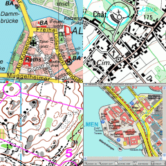 Samples of maps drawn using OCAD