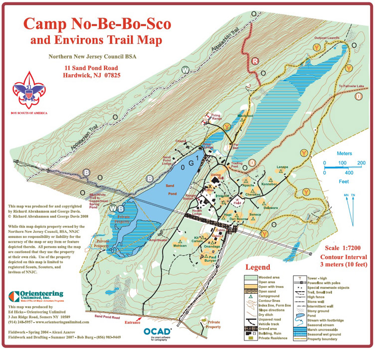 Facility Site Map Example: Orienteering Unlimited, Inc